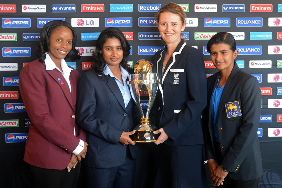 ICC women world cup 2013 is being unveiled by the captains of West Indies, India, England and Sri Lanka