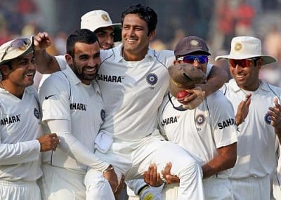 The legend Anil Kumble retires with a team providing their fitting farewell