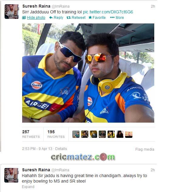 Sir Ravindra Jadeja trolled by Suresh Raina in Twitter