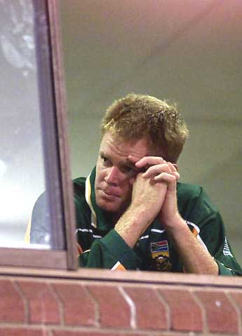 Shaun Pollock, after their elimination from ICC WC 2003 after a Tied Game, where target revised by D/L Method