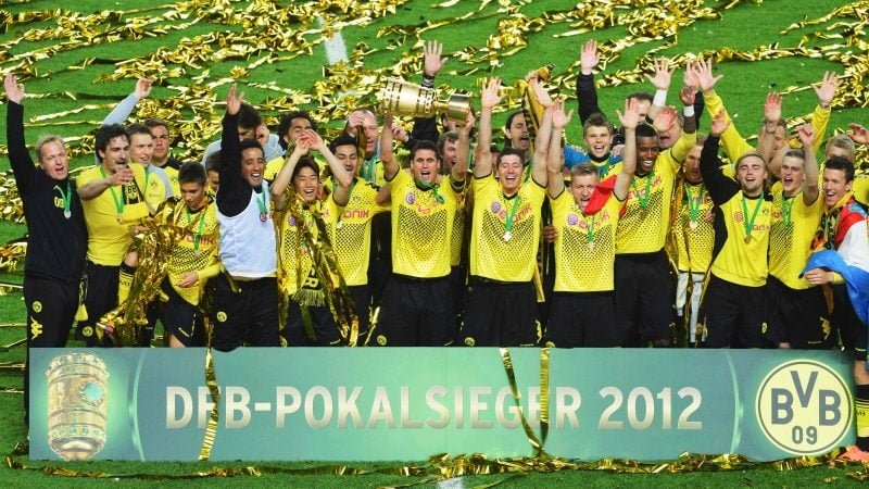 Borussia Dortmund after Winning the German Cup 2012
