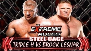 Brock Lesner vs Triple H WWE EXTREME RULES 2013
