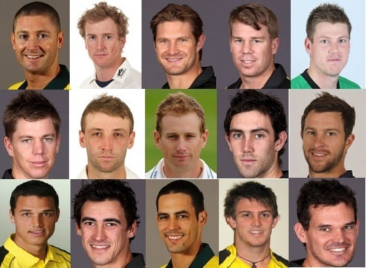 Australia Squad For ICC Champions Trophy 2013 ICC Champions Trophy Team Preview - AUSTRALIA