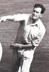 Jim Laker - First bowler to take all 10 wickets in an innings