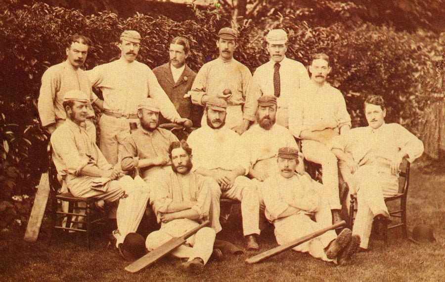 The England Squad which  played the first ever test match in 1877 vs Australia