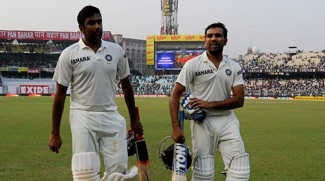 R Sharma & A Ashwin involved in Match winning Partnership