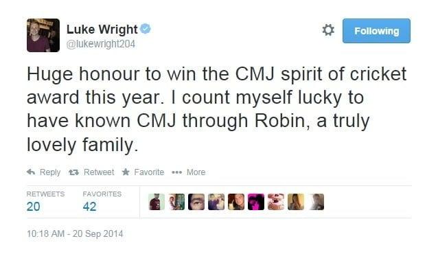 luke wright tweet