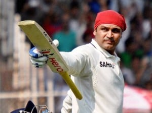 Virender Sehwag: 36th boundary of the inning