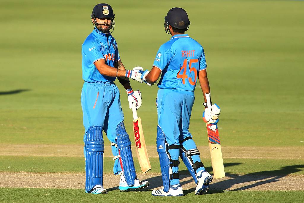 Virat Kohli and Rohit Sharma added an unbeaten 75 run-stand, the latter completing a confidence boosting fifty to take India over the line.