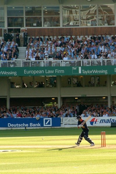 Former England batsman Andrew Strauss batting for Middlesex against Surrey